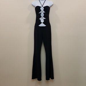 Black Cut Out Flare Jumpsuit
